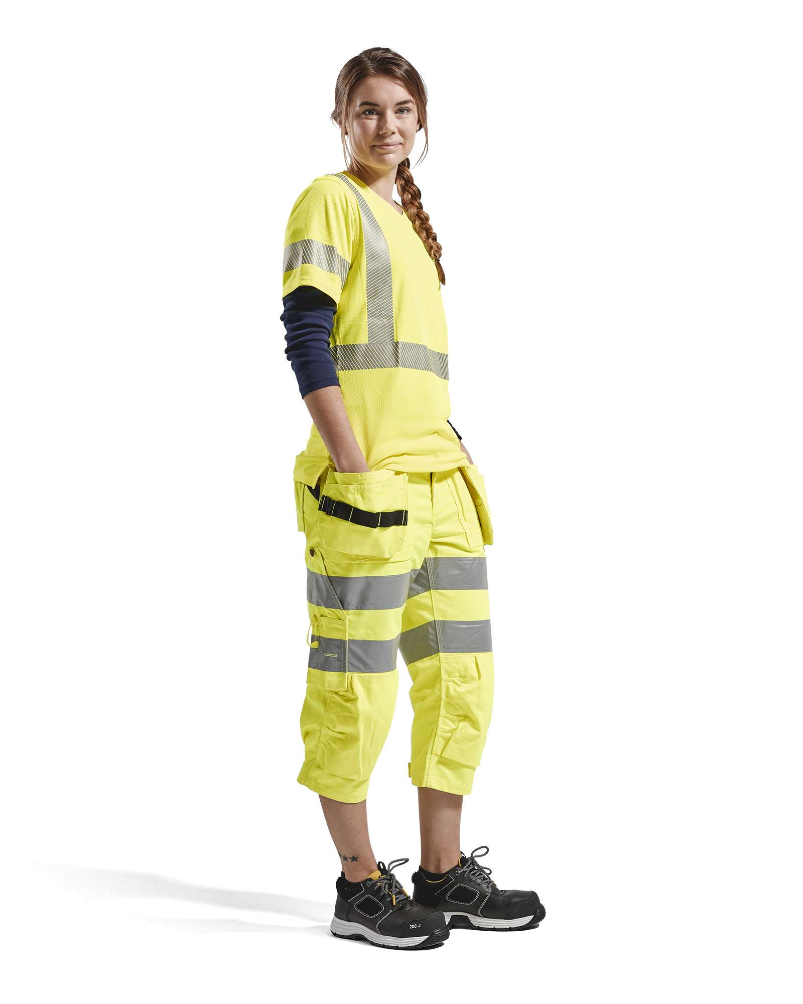 Blaklader Dames T-shirts 33361013 High Vis UPF40+ UV geel(3300)