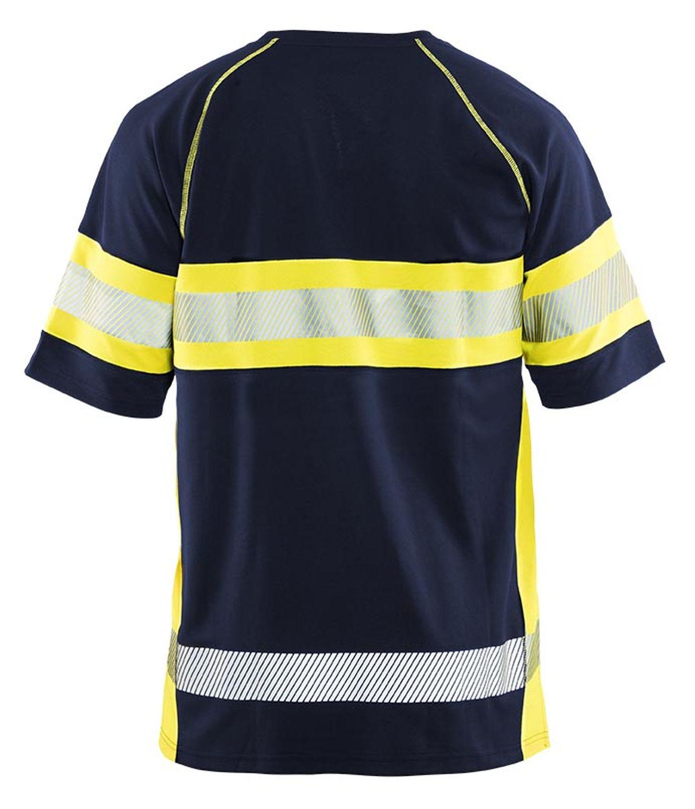 Blaklader T-shirts 33371051 High Vis UPF40+ UV marineblauw-geel(8933)