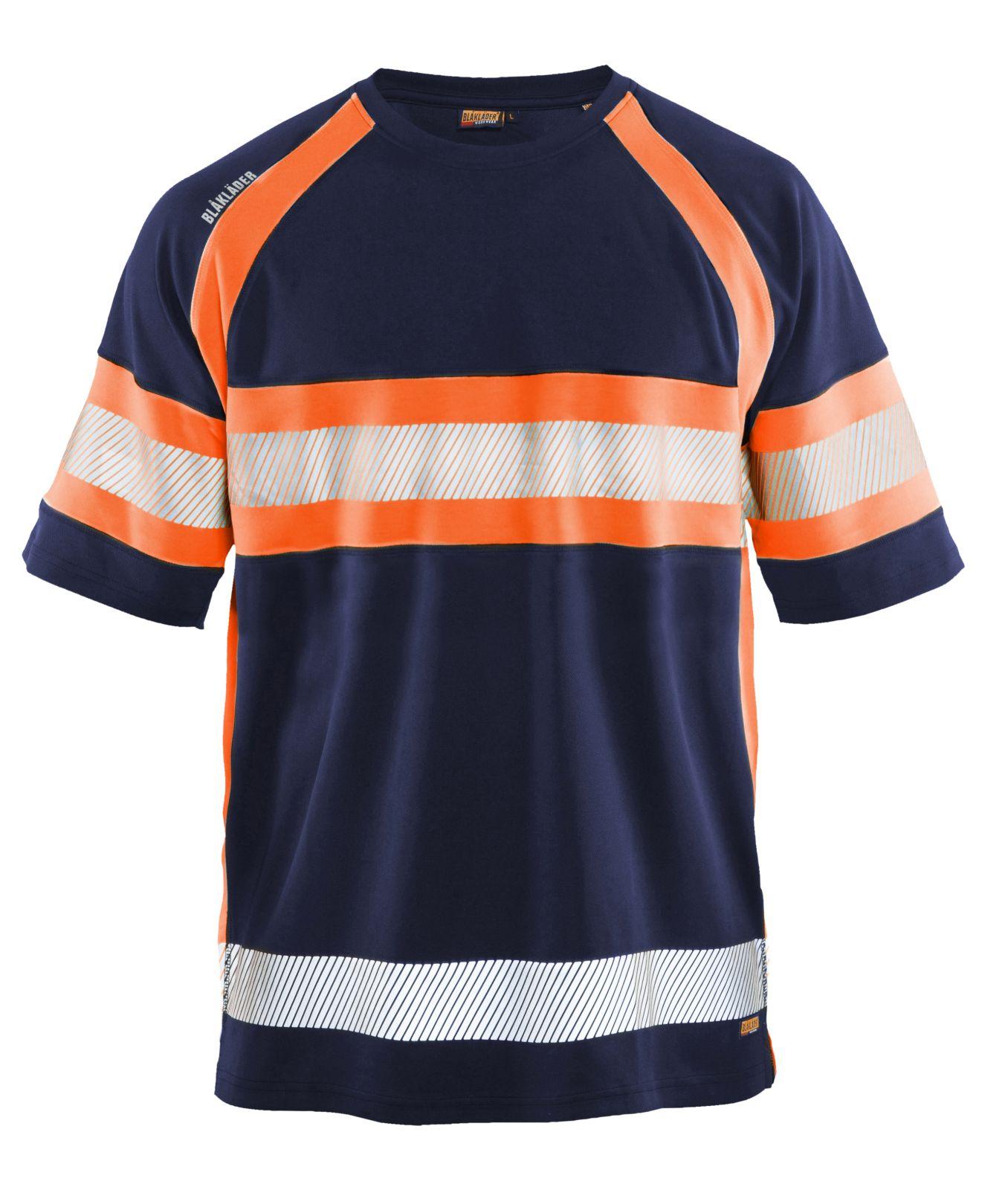 Blaklader T-shirts 33371051 High Vis UPF40+ UV marineblauw-oranje(8953)