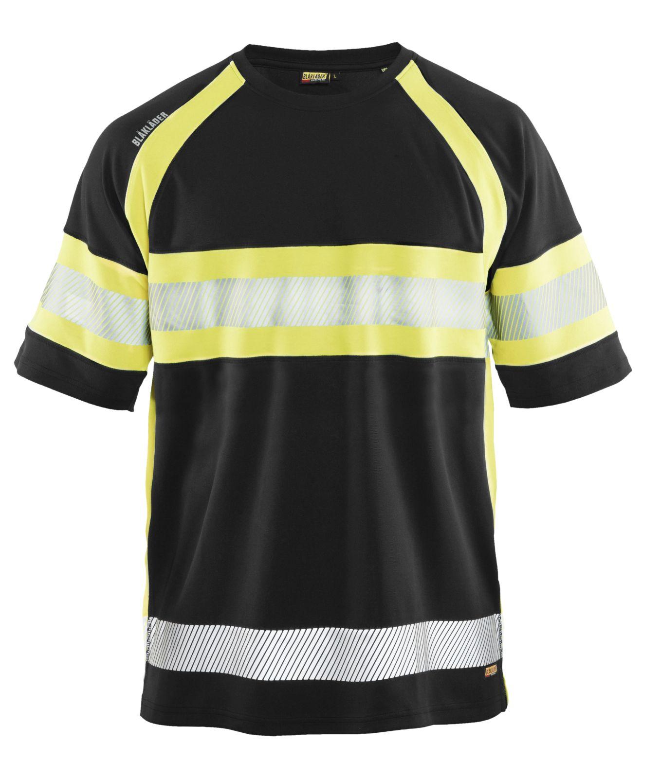 Blaklader T-shirts 33371051 High Vis UPF40+ UV zwart-geel(9933)