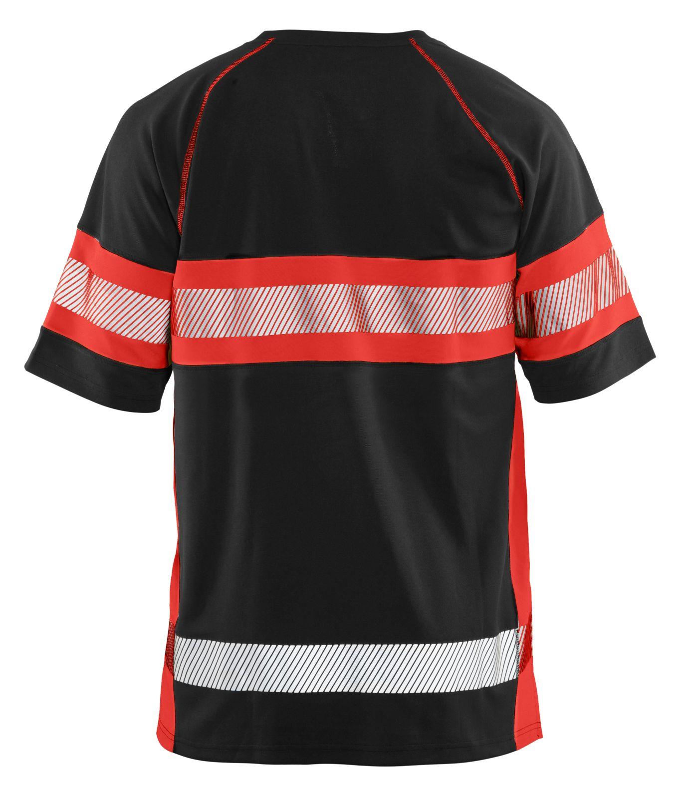 Blaklader T-shirts 33371051 High Vis UPF40+ UV zwart-fluo rood(9955)