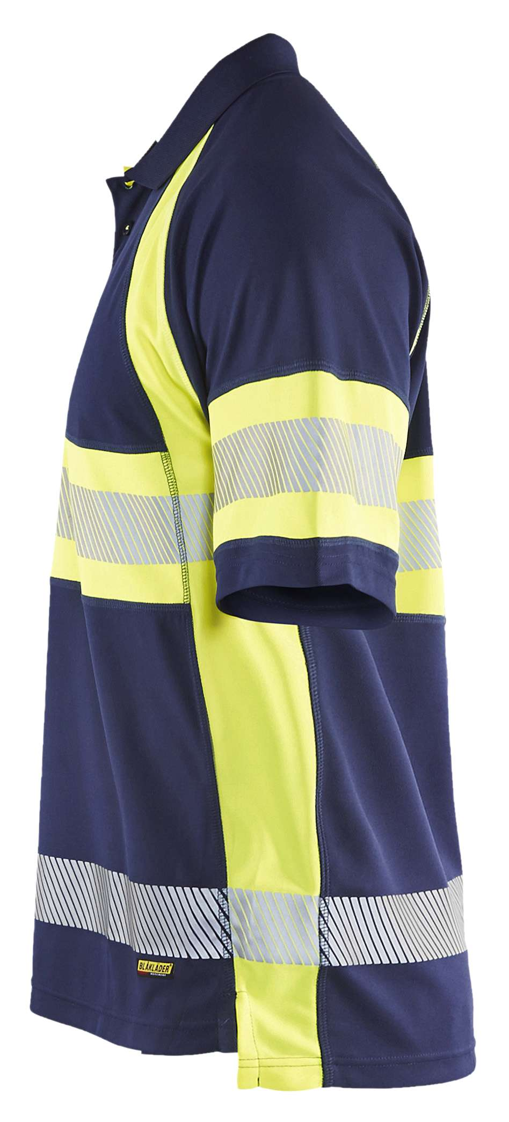 Blaklader Poloshirts 33381051 High Vis marineblauw-geel(8933)