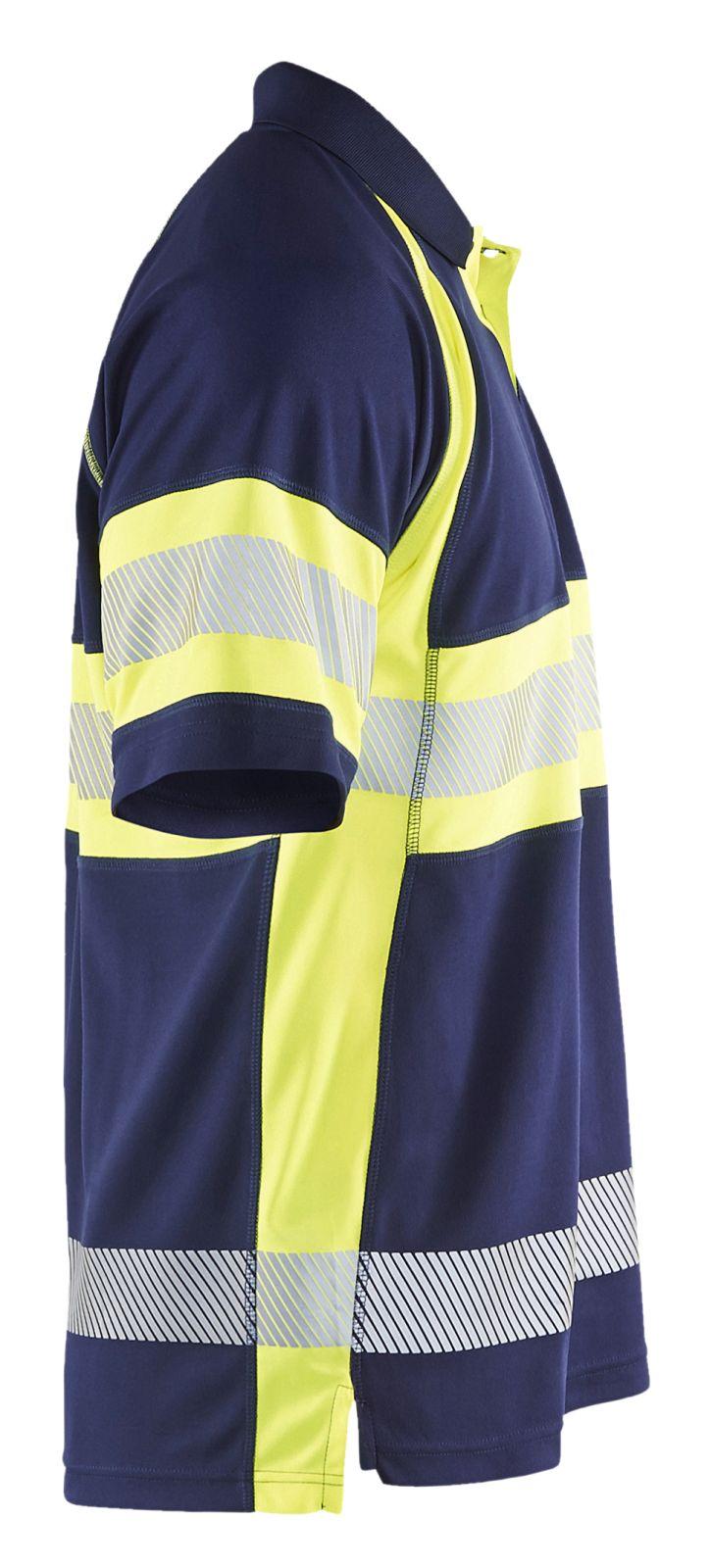 Blaklader Polo shirts 33381051 High Vis marineblauw-geel(8933)