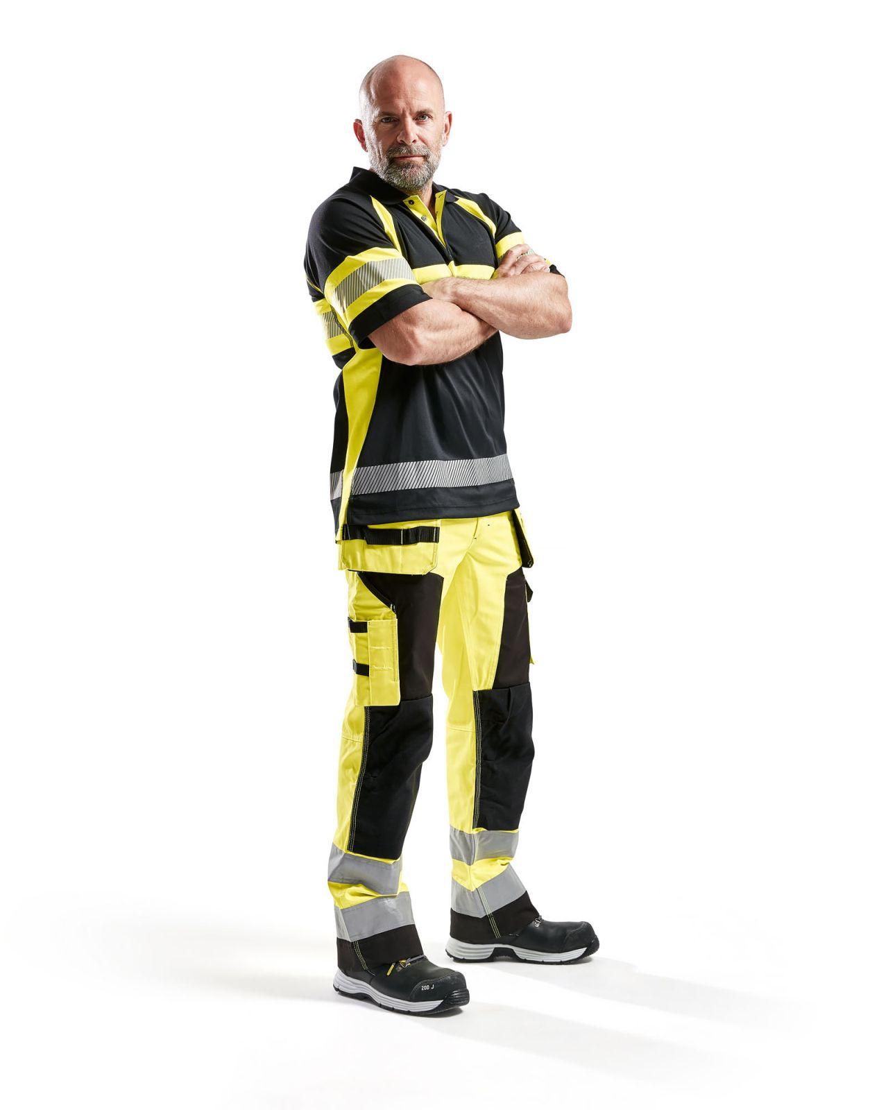 Blaklader Poloshirts 33381051 High Vis zwart-geel(9933)