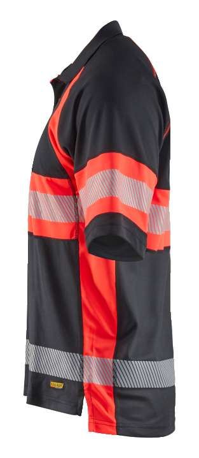 Blaklader Polo shirts 33381051 High Vis zwart-fluor rood(9955)