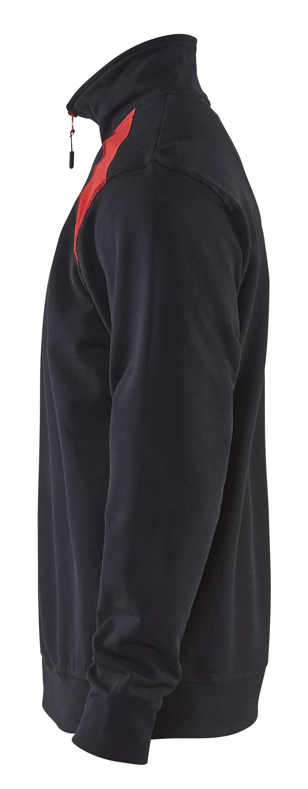 Blaklader Sweatshirts 33531158 zwart-rood(9956)