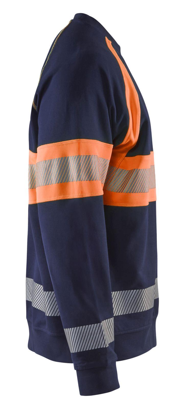 Blaklader Truien 33591158 High Vis marineblauw-oranje(8953)