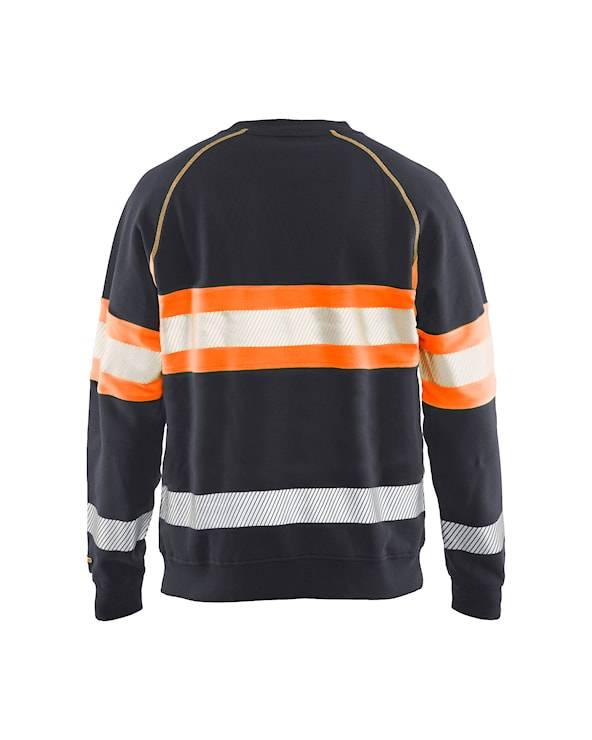 Blaklader sweatershirts 33591158 middelgrijs-fluo-oranje(9653)