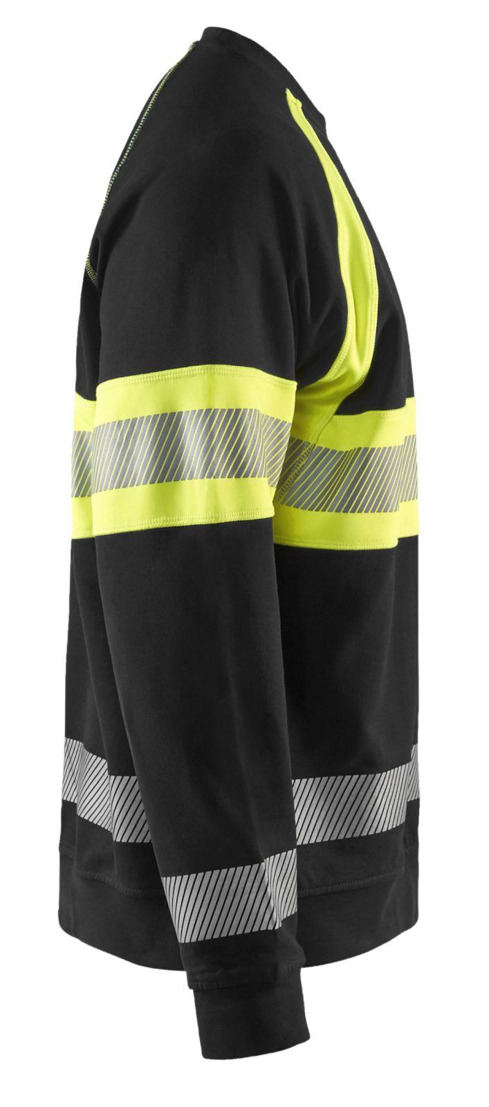 Blaklader Sweatshirts 33591158 High Vis zwart-geel(9933)