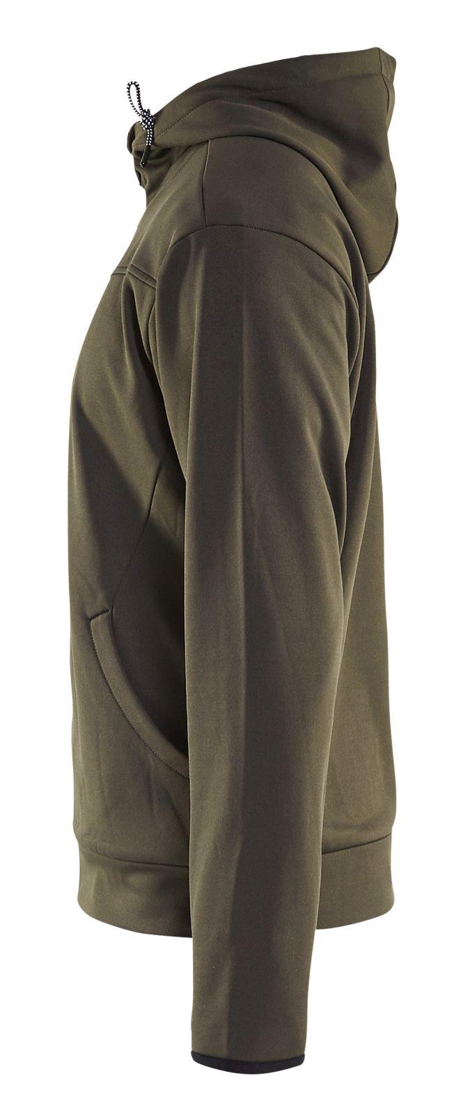 Blaklader Hooded sweatvesten 33632526 groen-zwart(4599)