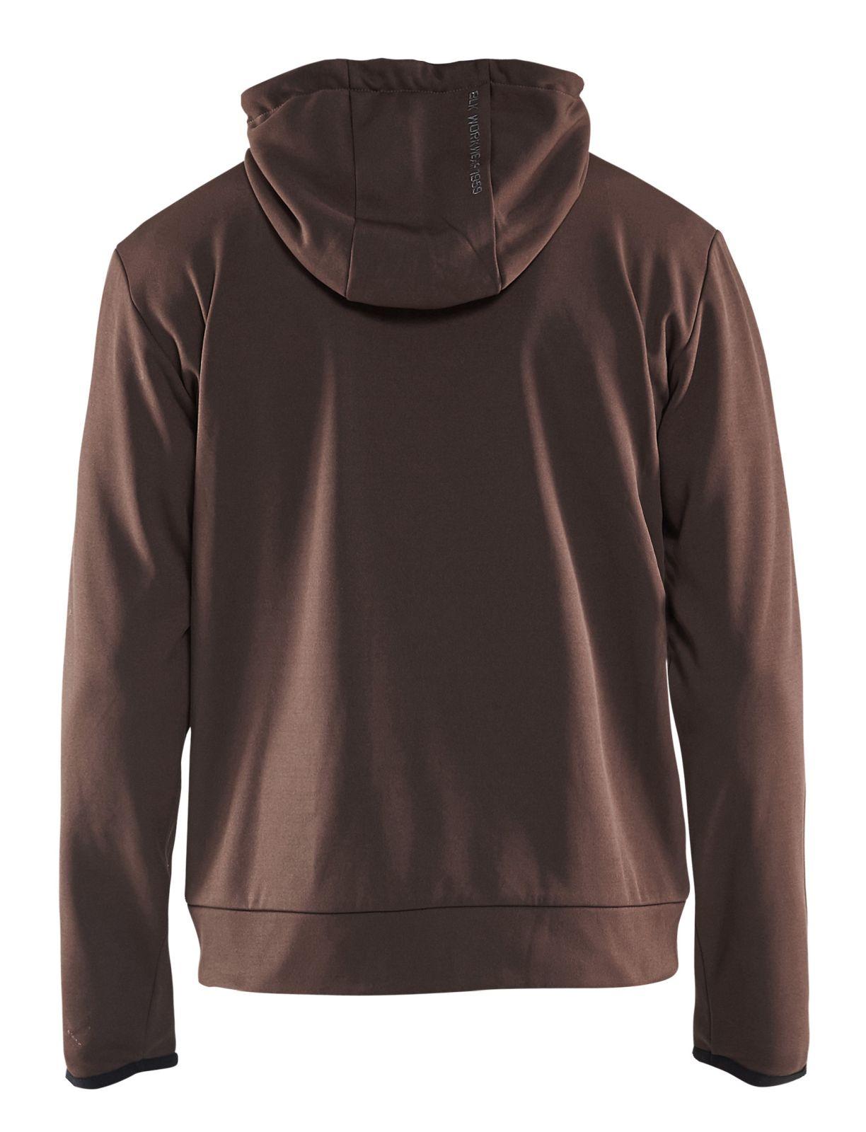 Blaklader Hooded sweatvesten 33632526 bruin-zwart(7899)