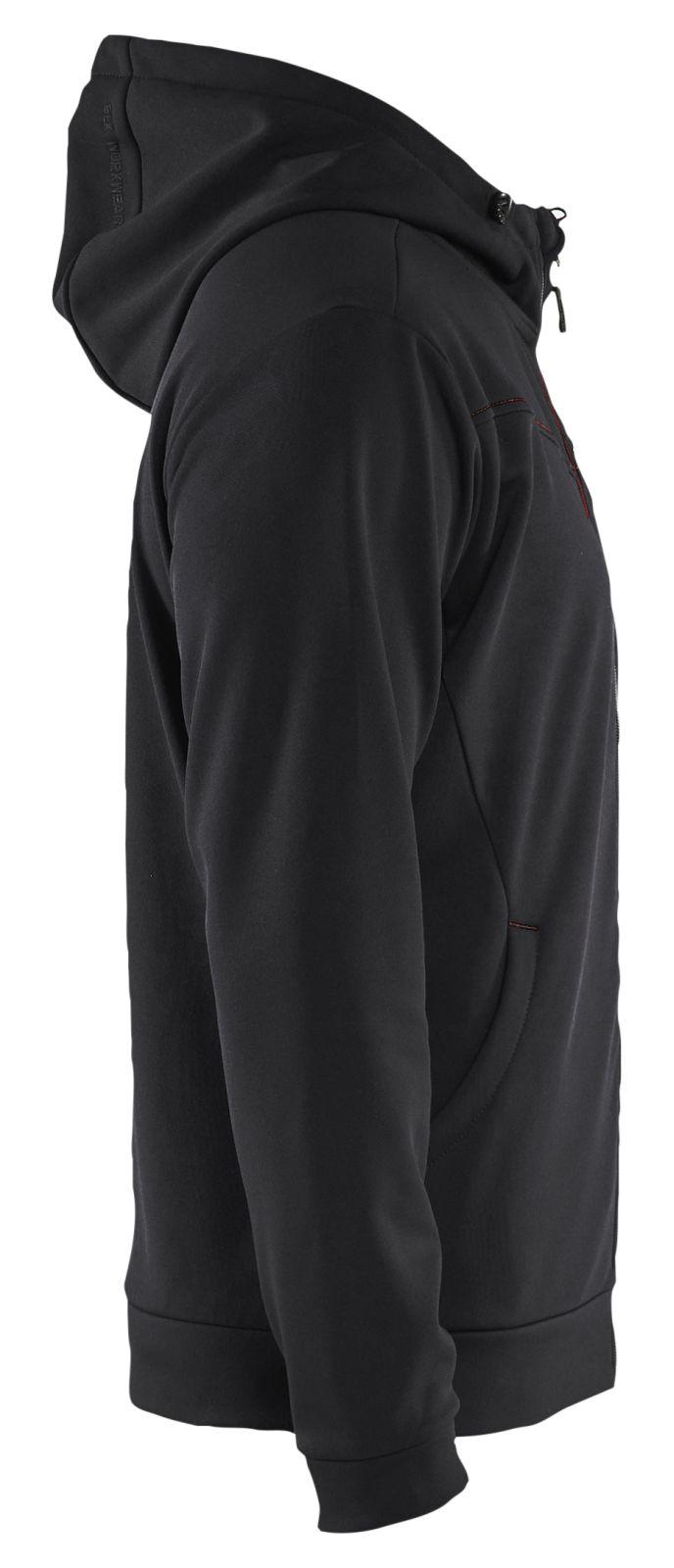 Blaklader Hooded sweatvesten 33632526 zwart-rood(9956)
