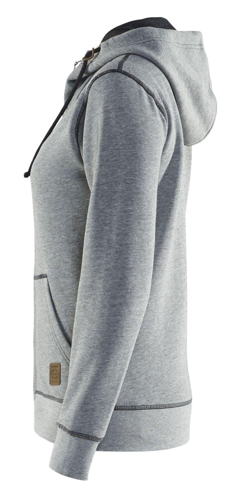 Blaklader Dames hooded sweatvesten 33731157 grijs melee(9000)