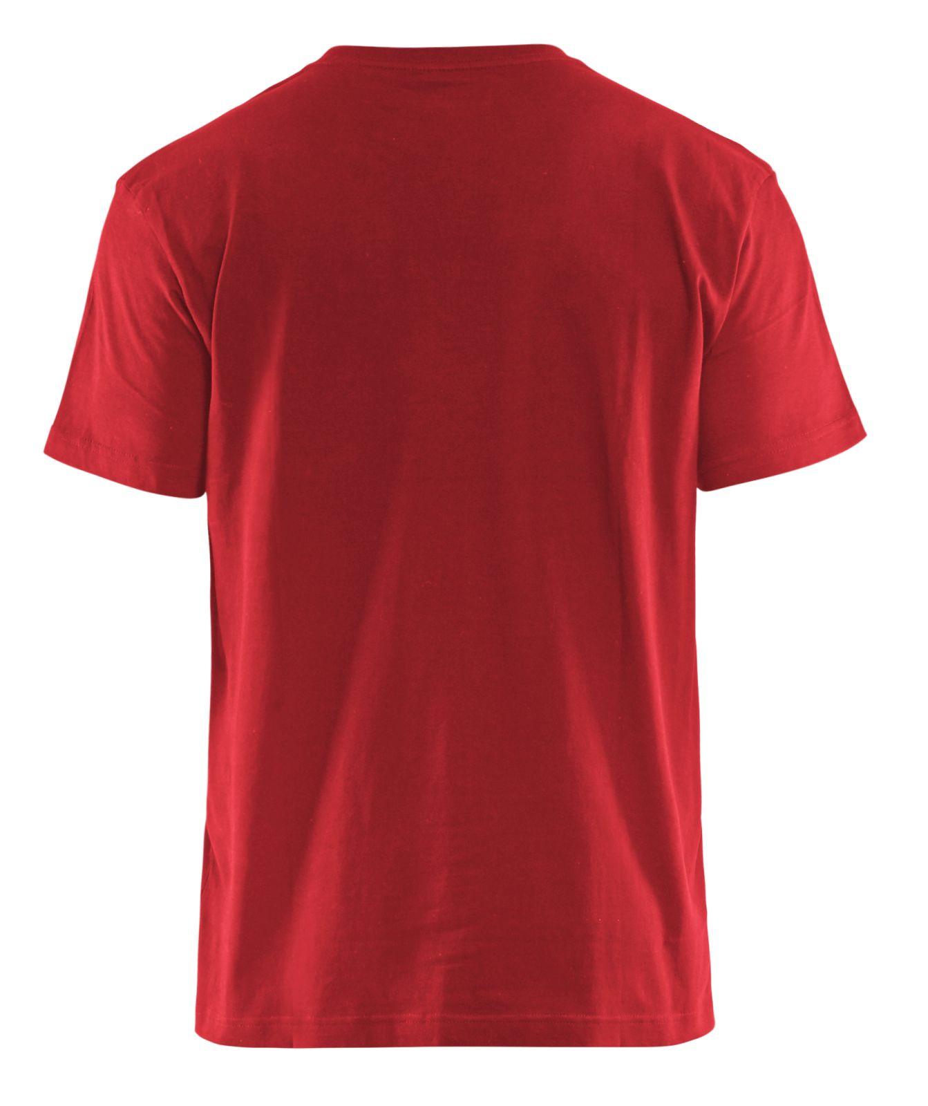 Blaklader T-shirts 33791042 rood-zwart(5699)