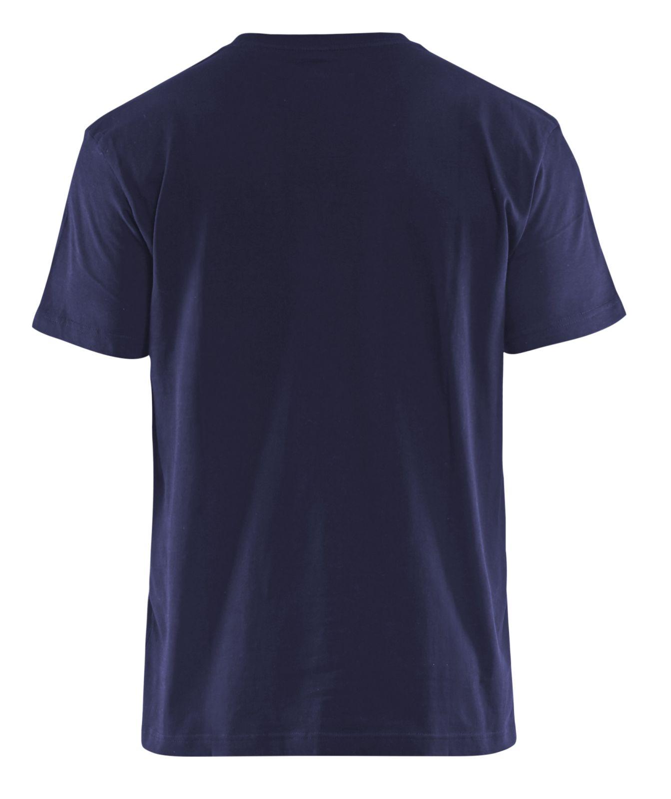 Blaklader T-shirts 33791042 marineblauw-geel(8833)