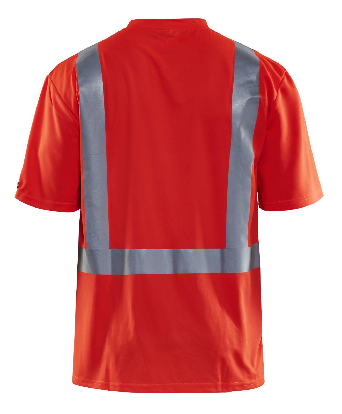 Blaklader T-shirts 33821011 High Vis UPF40+ UV fluo-rood(5500)
