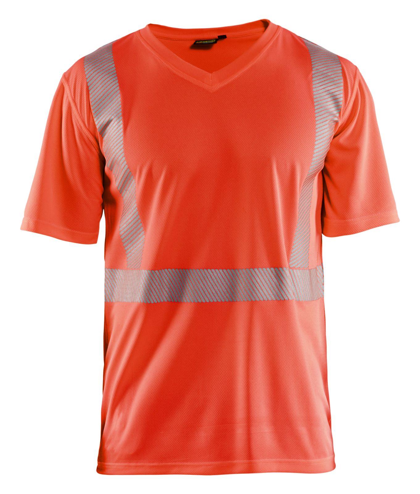 Blaklader T-shirts 33861013 High Vis UPF40+ UV fluo-rood(5500)