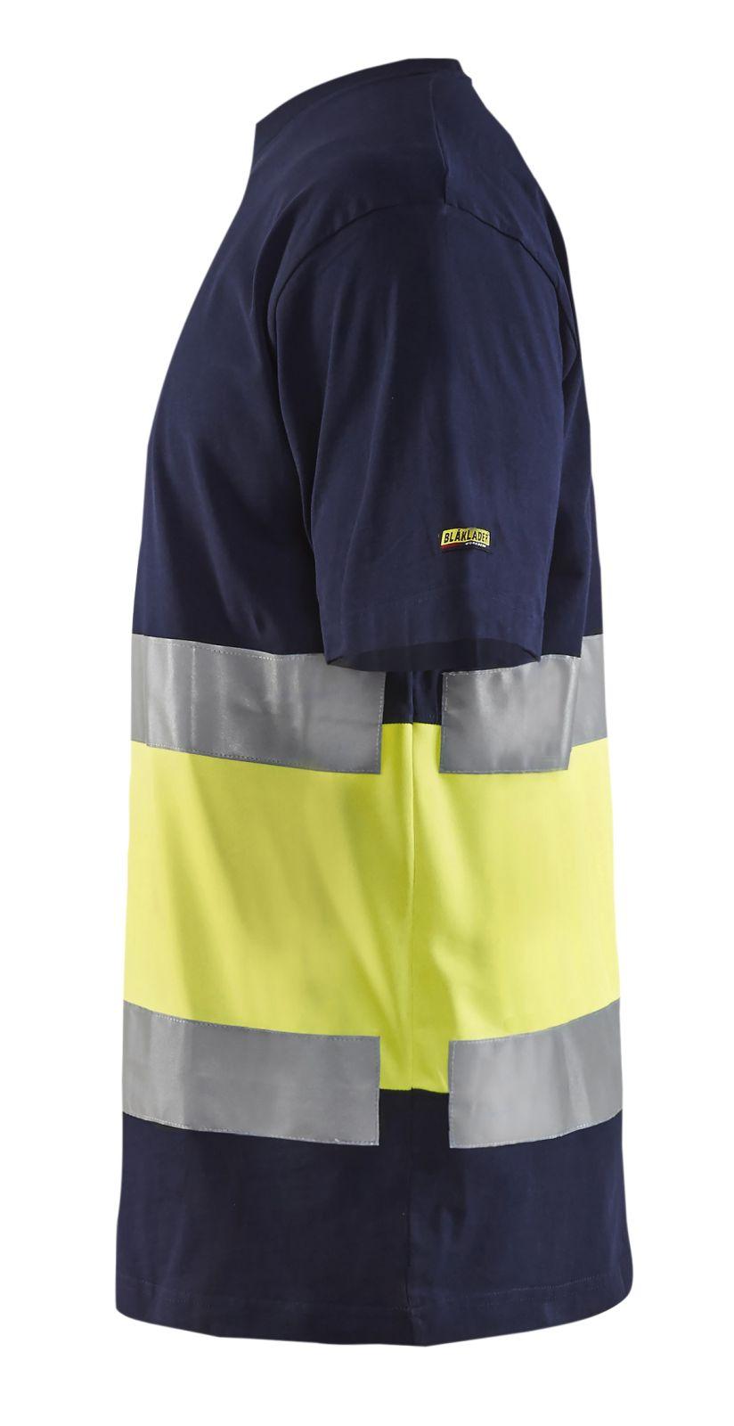 Blaklader T-shirts 33871030 High Vis marineblauw-geel(8833)