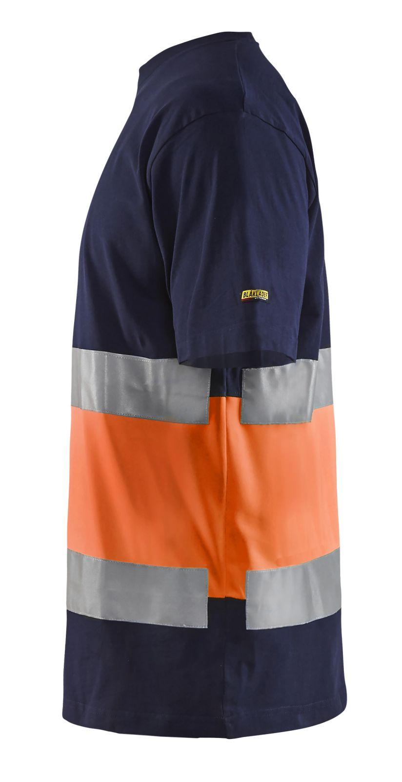 Blaklader T-shirts 33871030 High Vis marineblauw-oranje(8853)