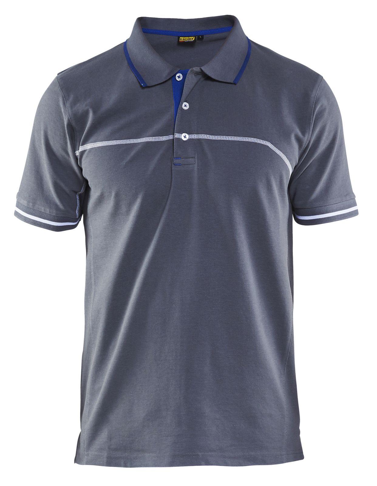 Blaklader Polo shirts 33891050 grijs-korenblauw(9485)