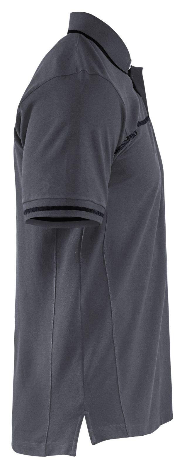 Blaklader Poloshirts 33891050 midden grijs-zwart(9699)