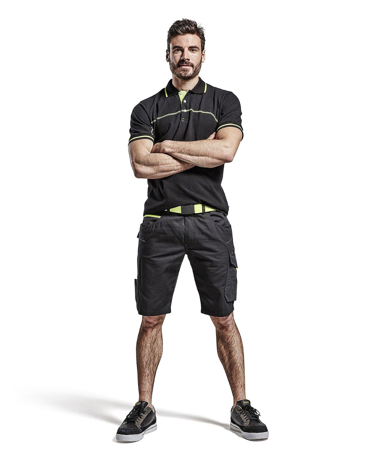 Blaklader Polo shirts 33891050 zwart-fluo geel(9933)