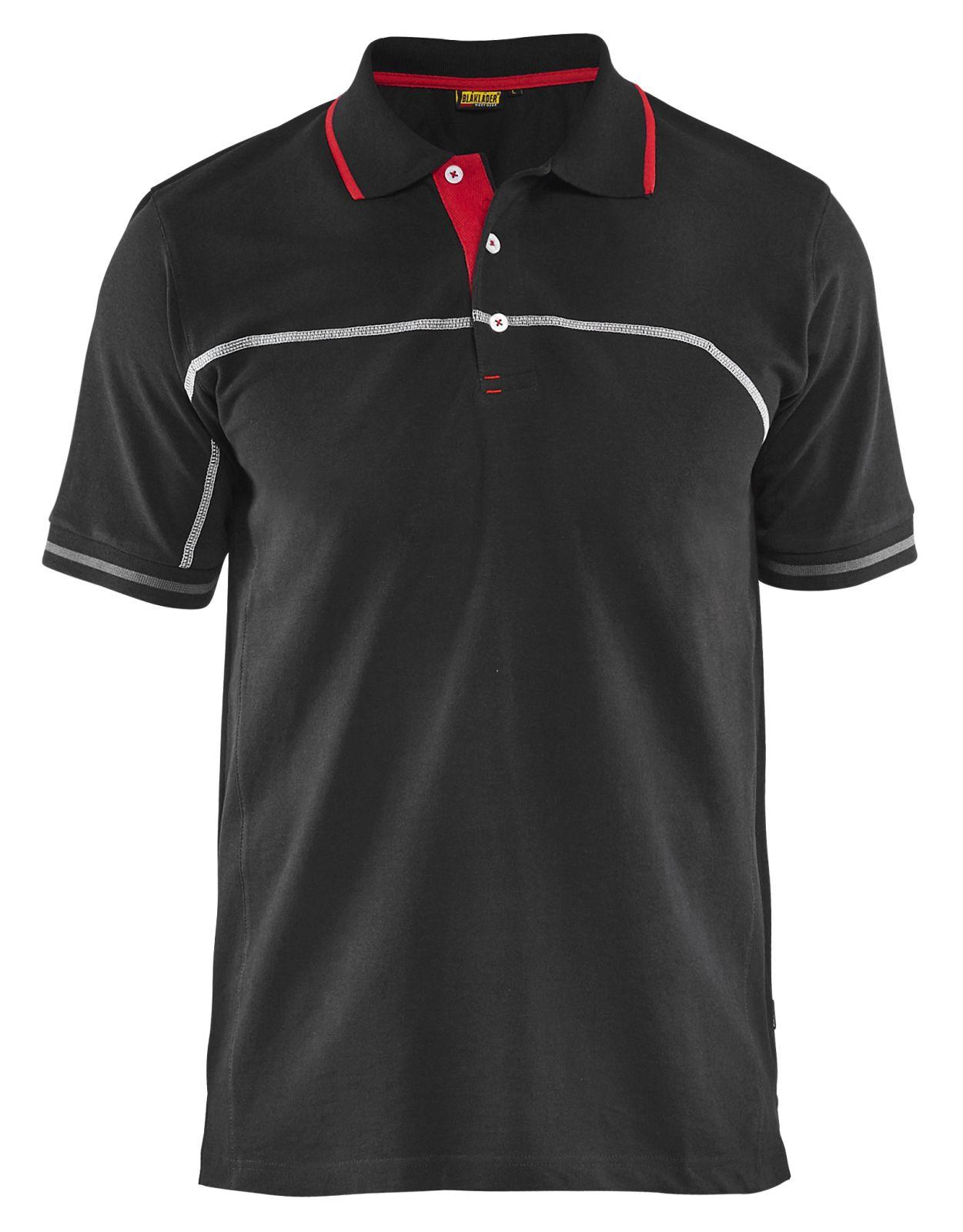 Blaklader Poloshirts 33891050 zwart-rood(9956)