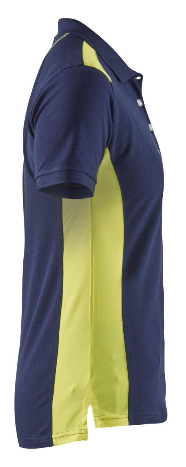 Blaklader Dames polo shirts 33901050 marineblauw-geel(8933)