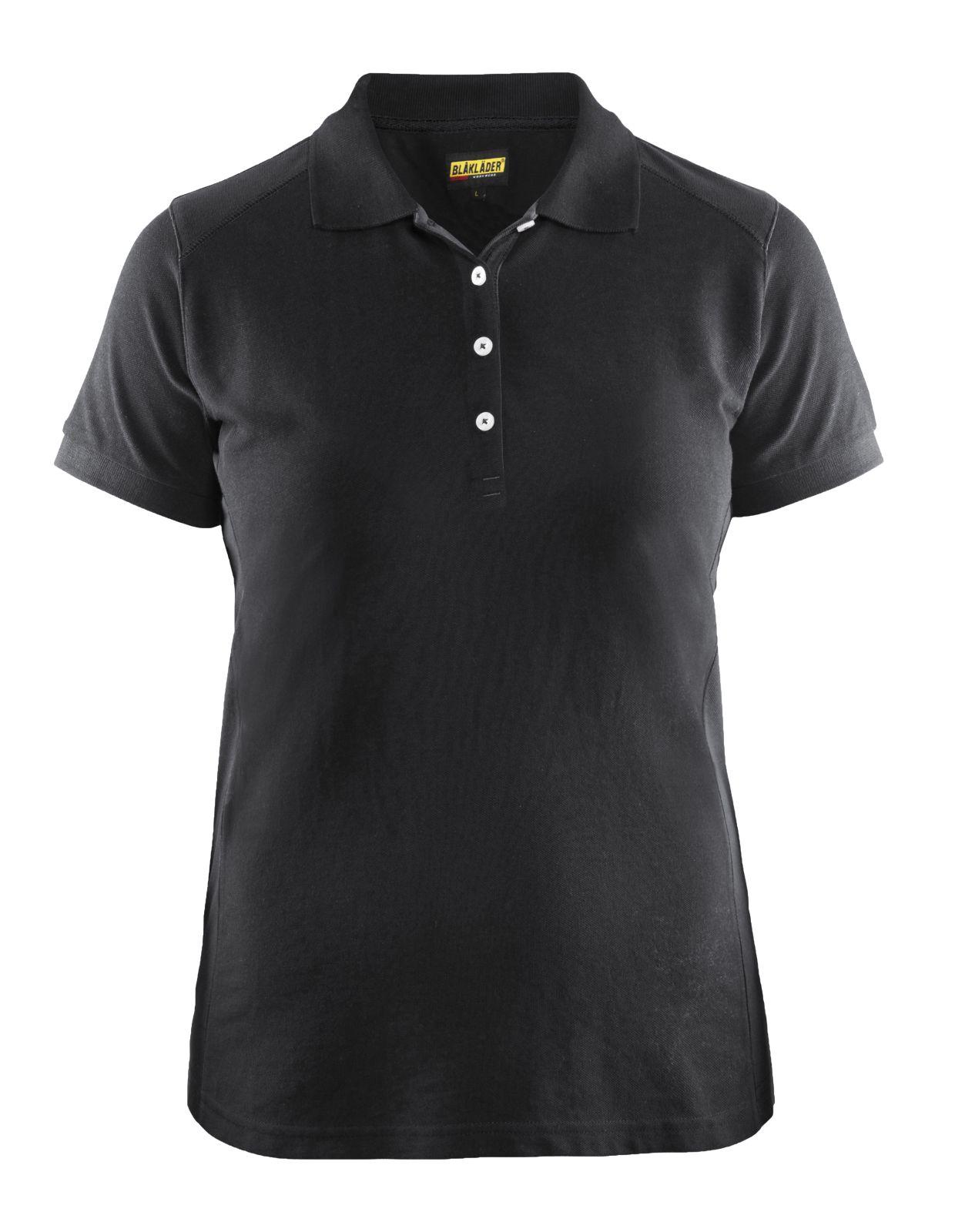 Blaklader Dames polo shirts 33901050 zwart(9900)
