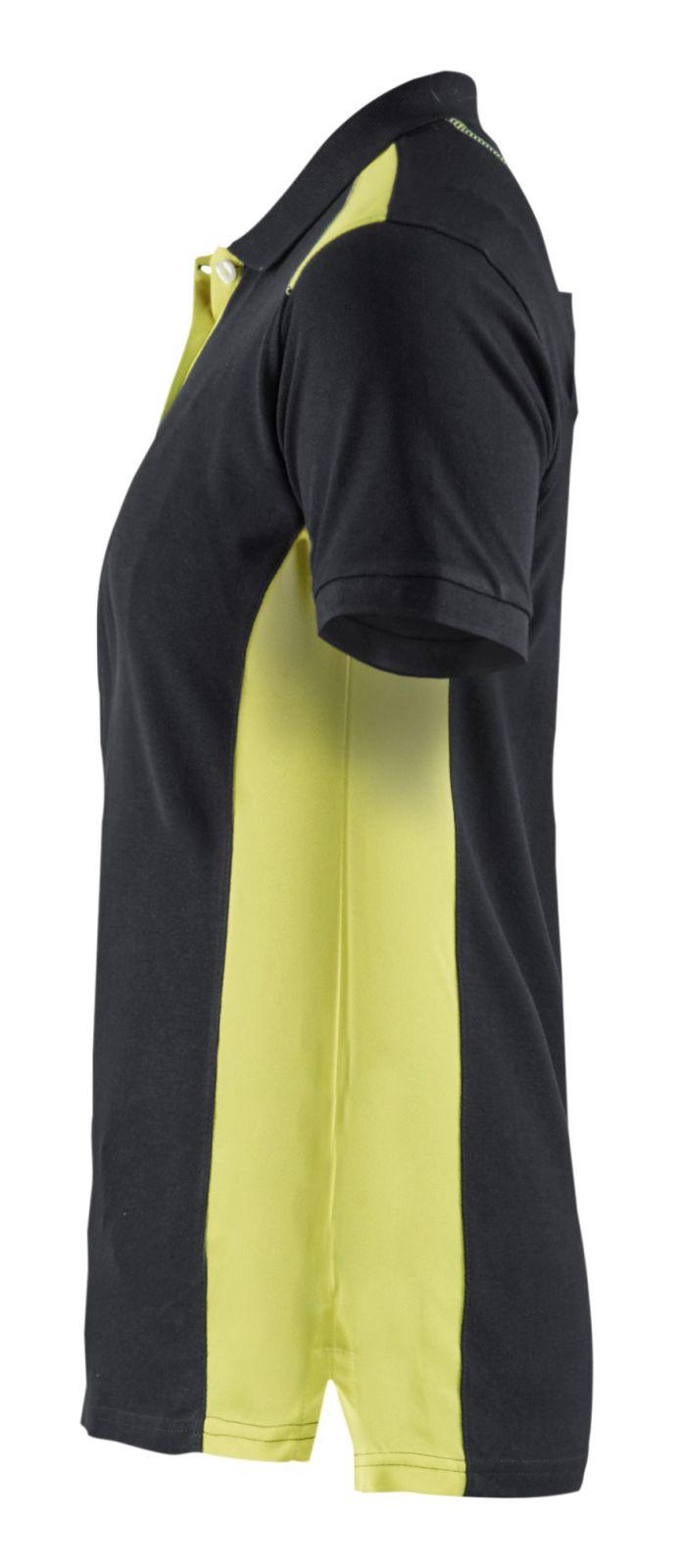 Blaklader Dames polo shirts 33901050 zwart-geel(9933)