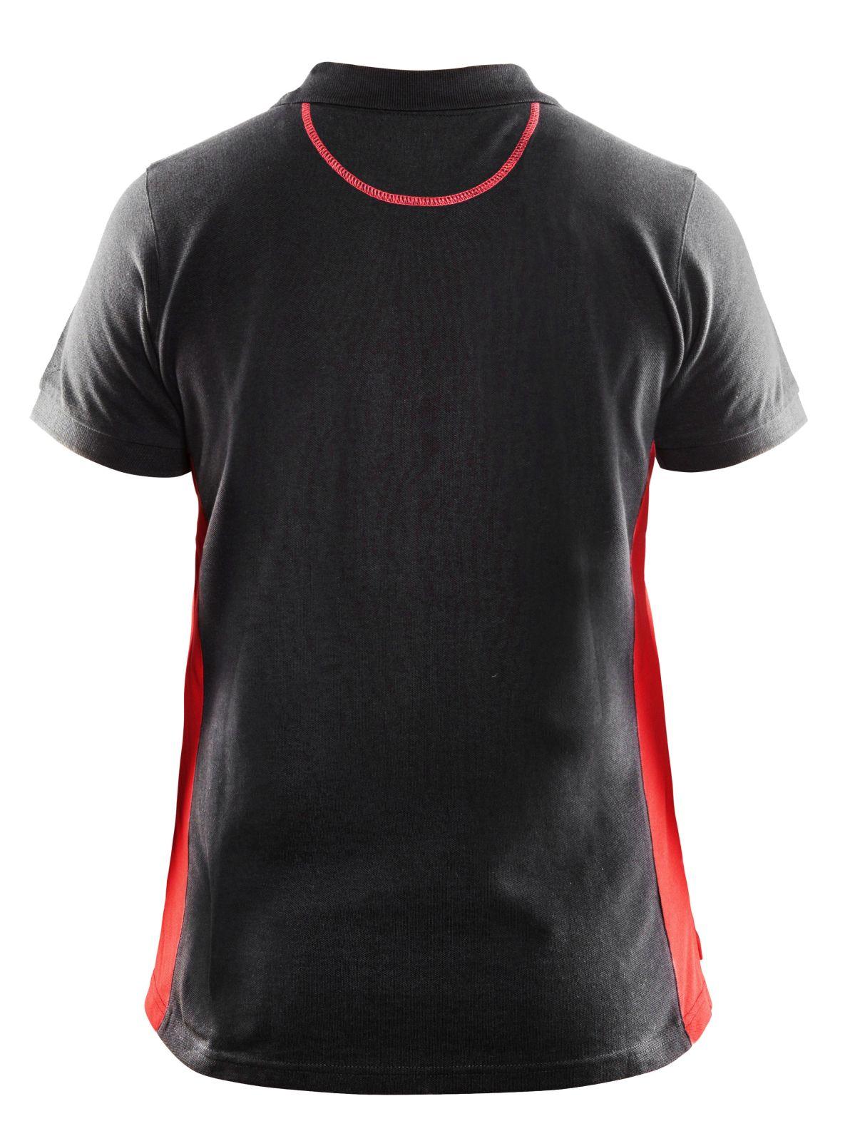 Blaklader Dames polo shirts 33901050 zwart-rood(9956)