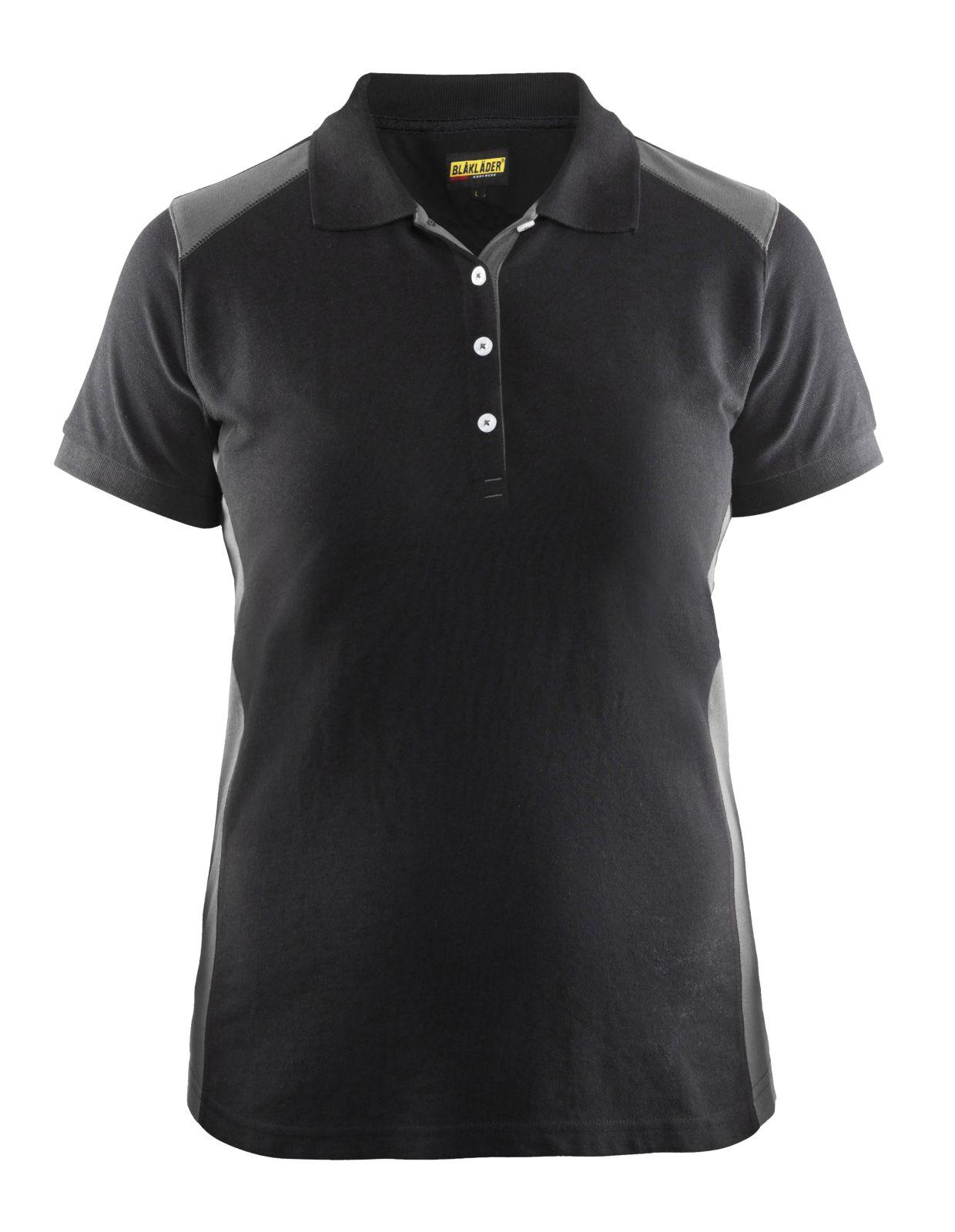 Blaklader Dames polo shirts 33901050 zwart-grijs(9994)