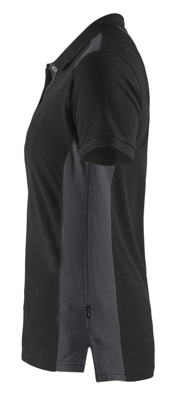 Blaklader Dames polo shirts 33901050 zwart-donkergrijs(9998)