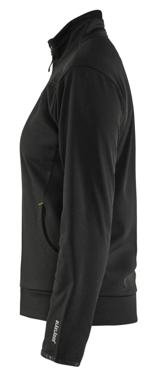 Blaklader Dames sweatvesten 33942526 zwart-fluo geel(9933)