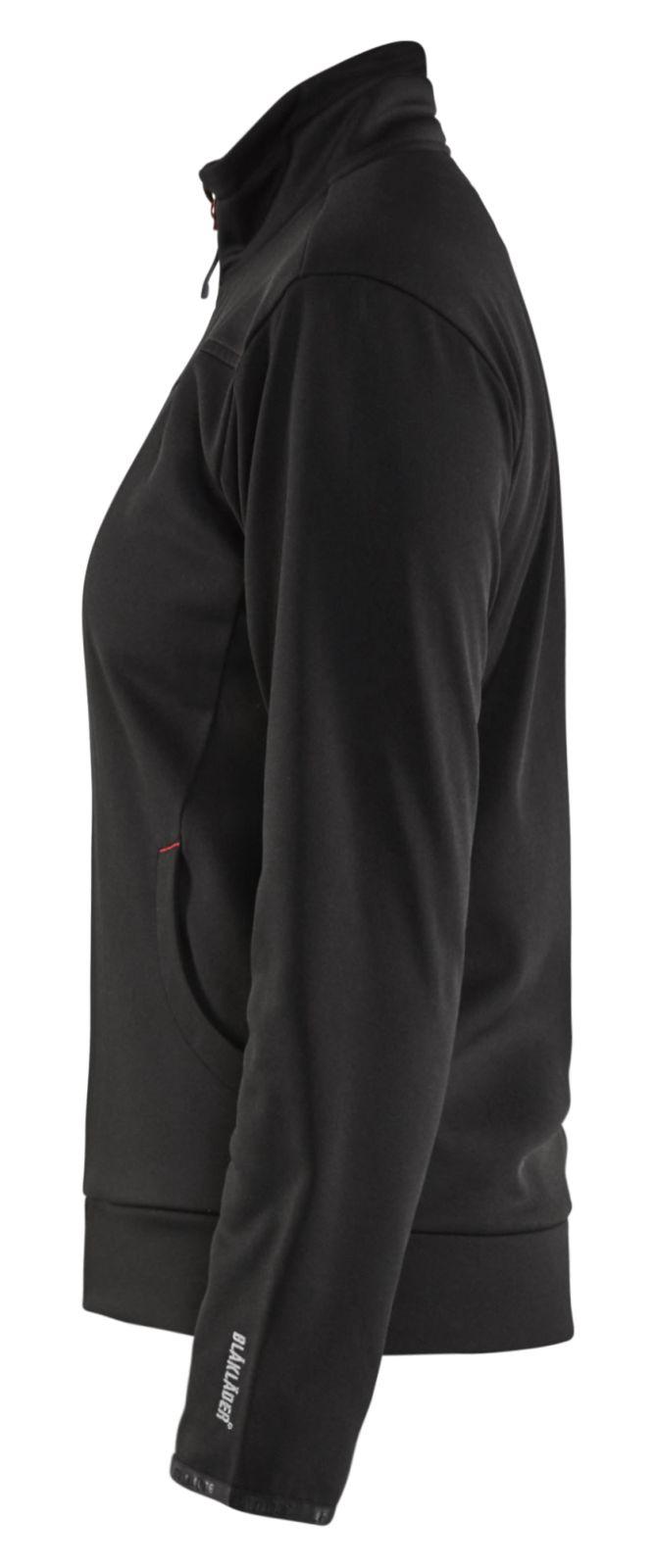 Blaklader Dames sweatvesten 33942526 zwart-rood(9956)