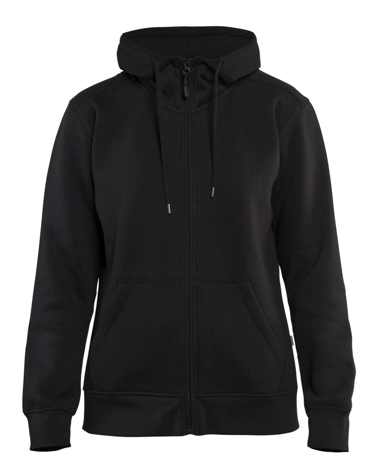 Blaklader Dames hooded sweatvesten 33951048 zwart(9900)