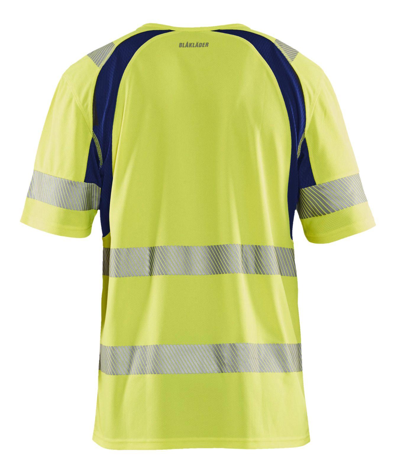 Blaklader T-shirts 33971013 High Vis UPF40+ UV fluo geel-marineblauw(3389)