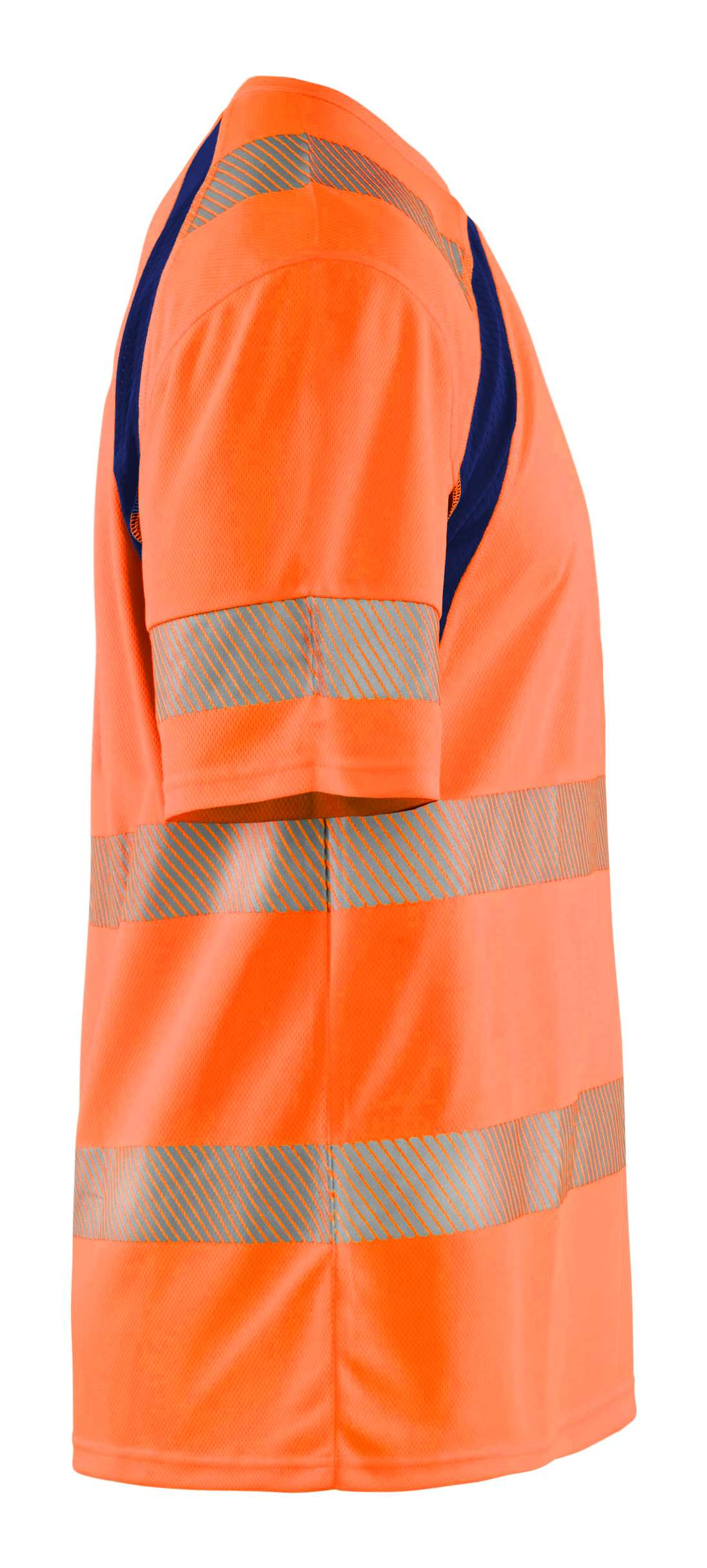 Blaklader T-shirts 33971013 High Vis UPF40+ UV fluo oranje-marineblauw(5389)