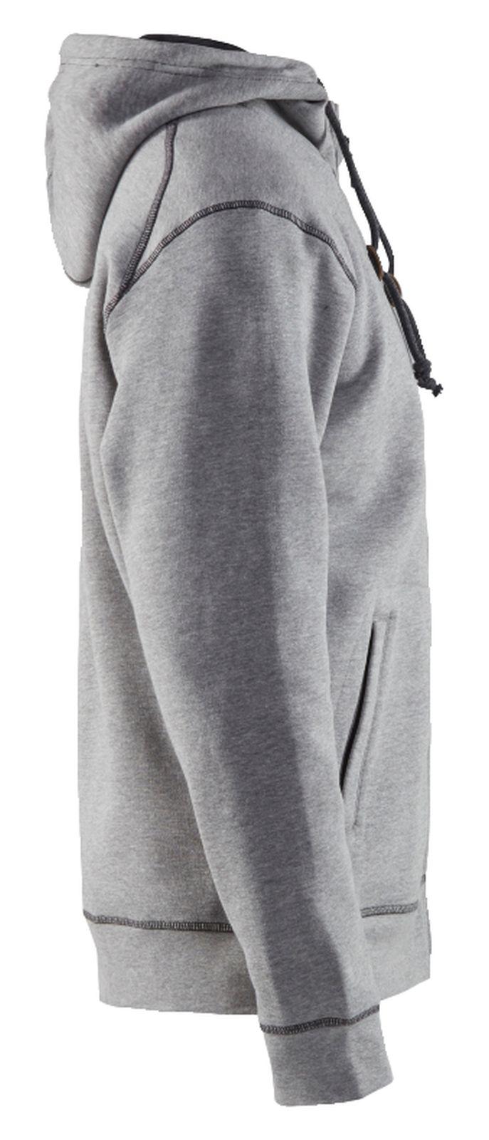 Blaklader Hooded sweatvesten 33981157 grijs melee(9000)