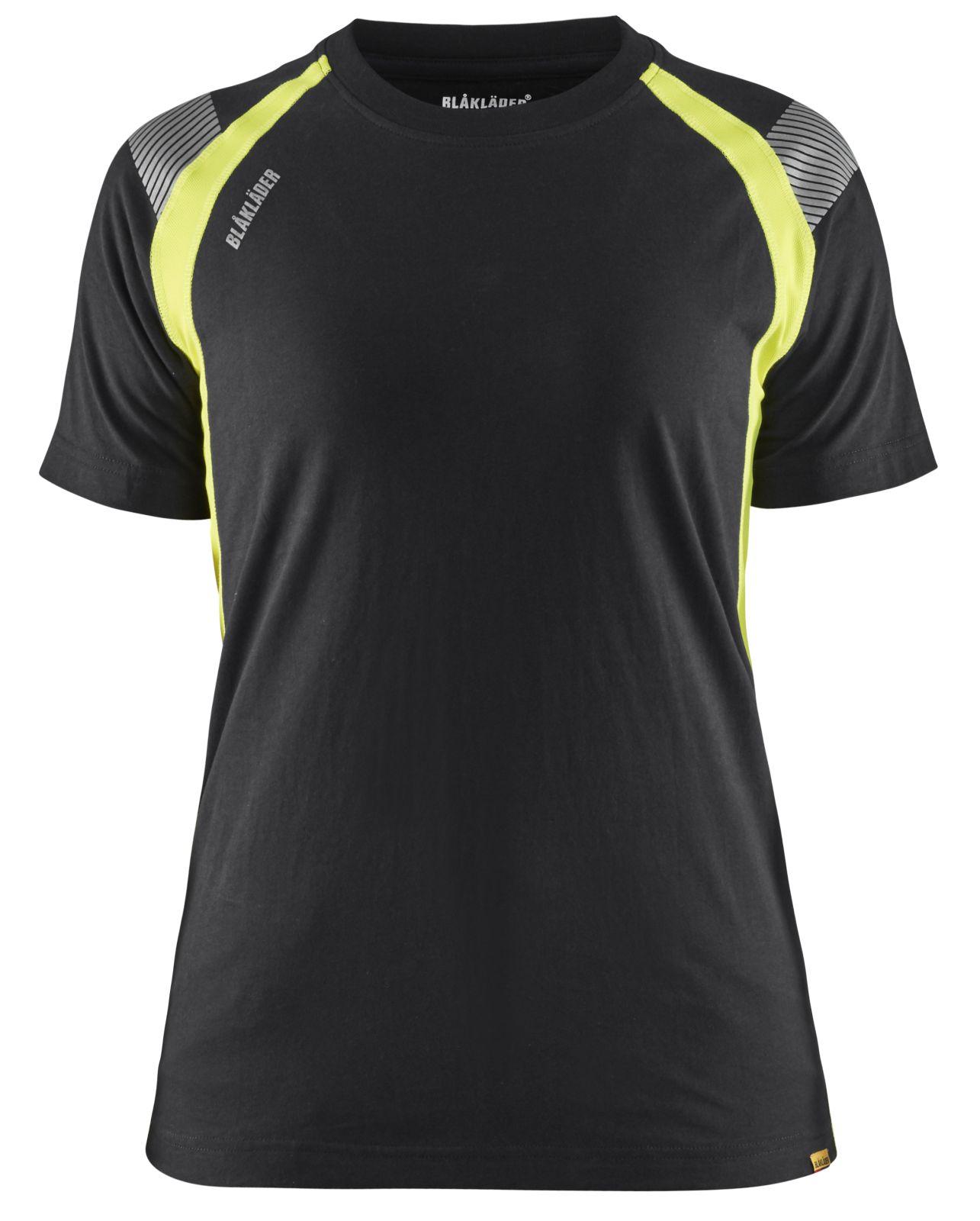 Blaklader T-shirts 34021030 zwart-fluo geel(9933)