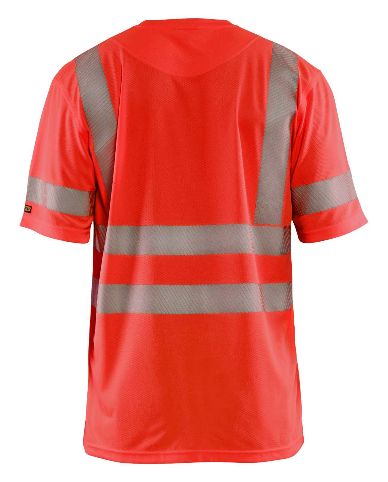 Blaklader T-shirts 34201013 High Vis UPF40+ UV fluo-rood(5500)
