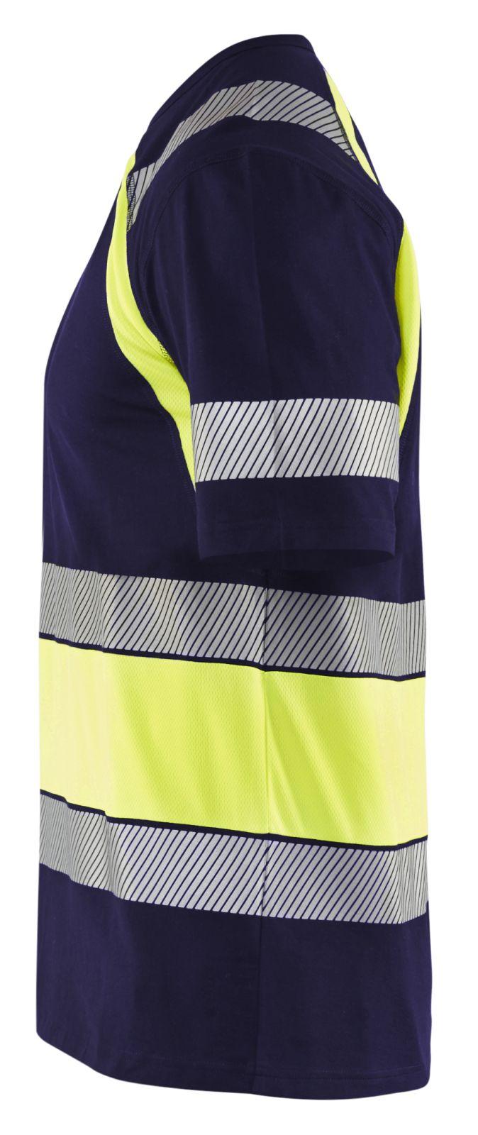 Blaklader T-shirts 34211030 High Vis marineblauw-geel(8833)
