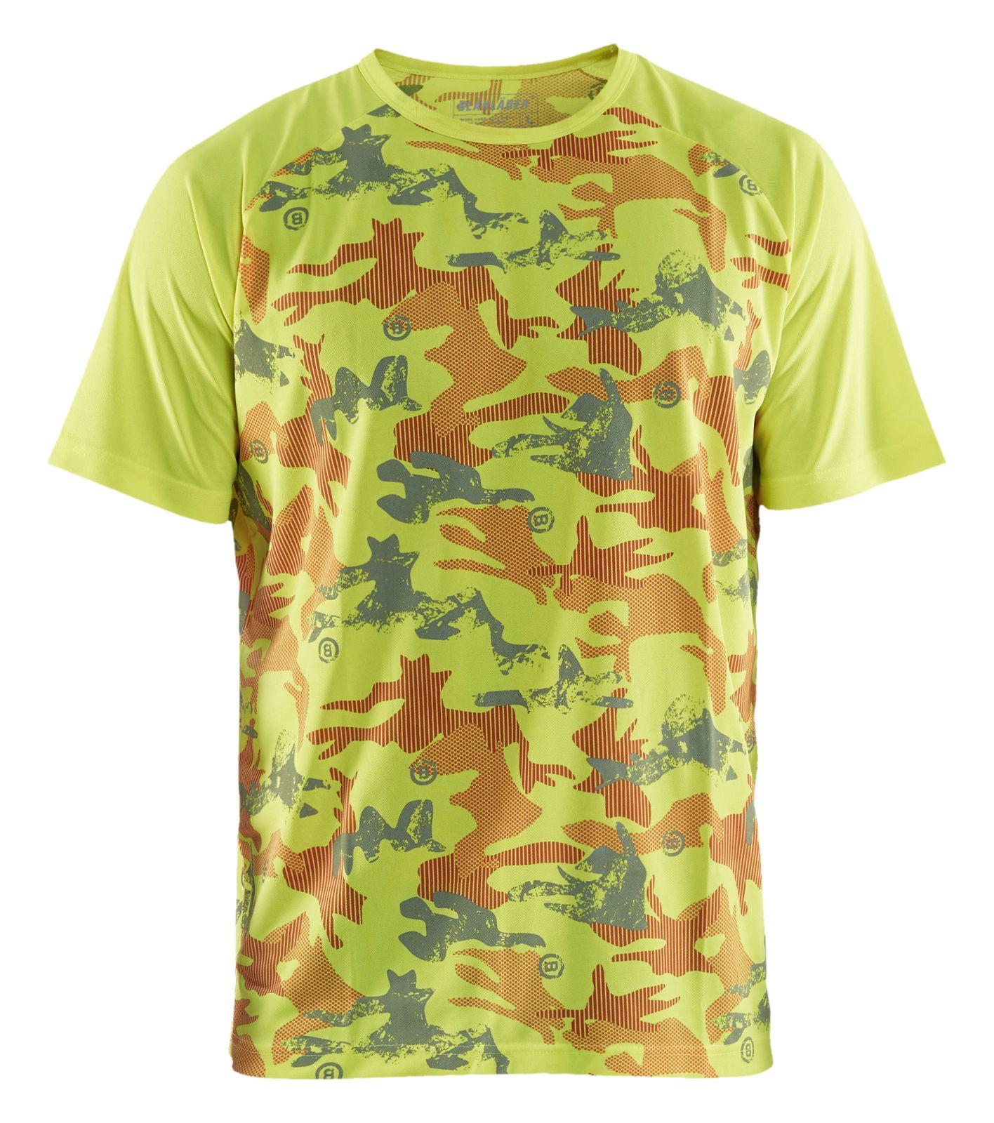 Blaklader T-shirts 34251011 UPF40+ UV fluo geel-grijs(3394)