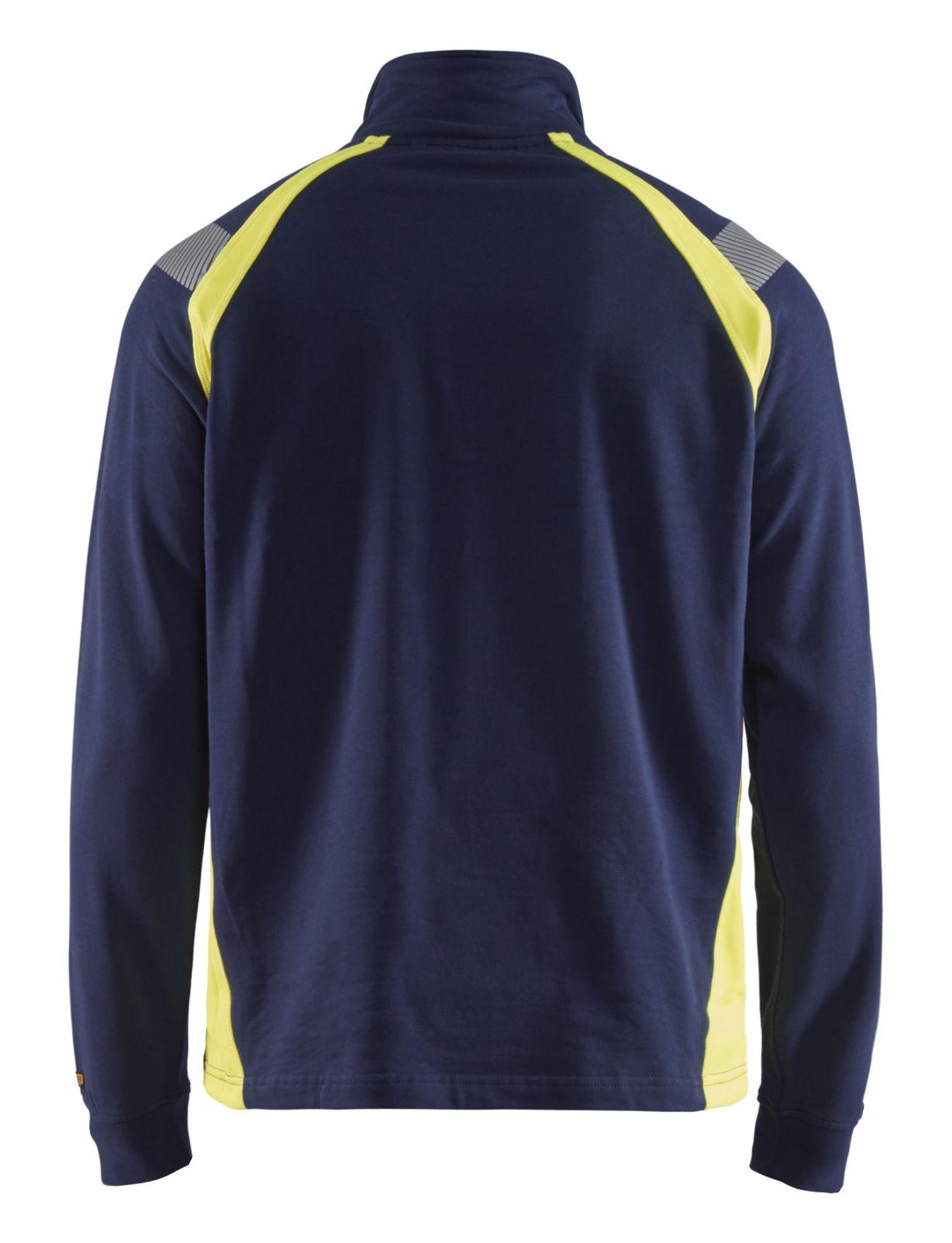 Blaklader Truien 34321158 marineblauw-geel(8933)