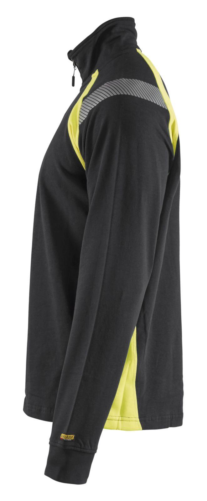 Blaklader Sweatshirts 34321158 zwart-geel(9933)