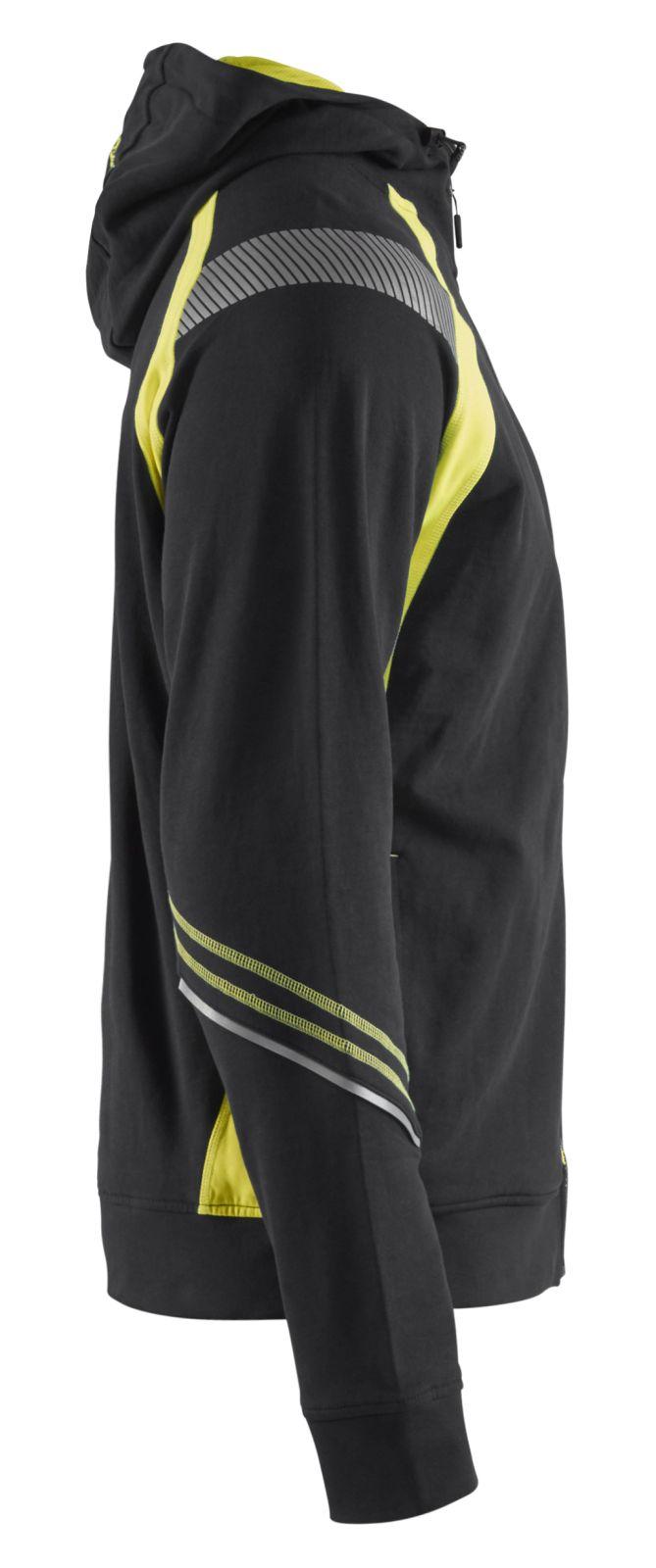 Blaklader Hooded sweatvesten 34331158 zwart-geel(9933)