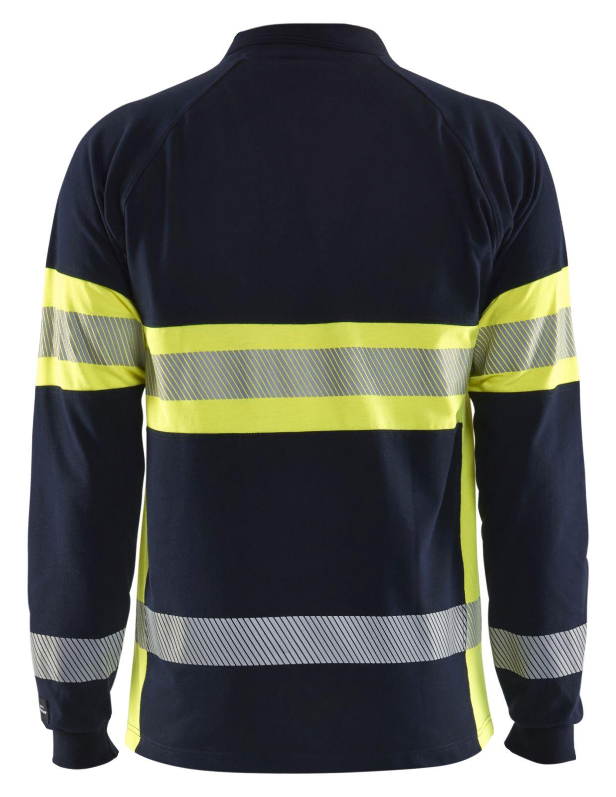 Blaklader Polo sweatshirts 34381726 Multinorm marineblauw-geel(8933)