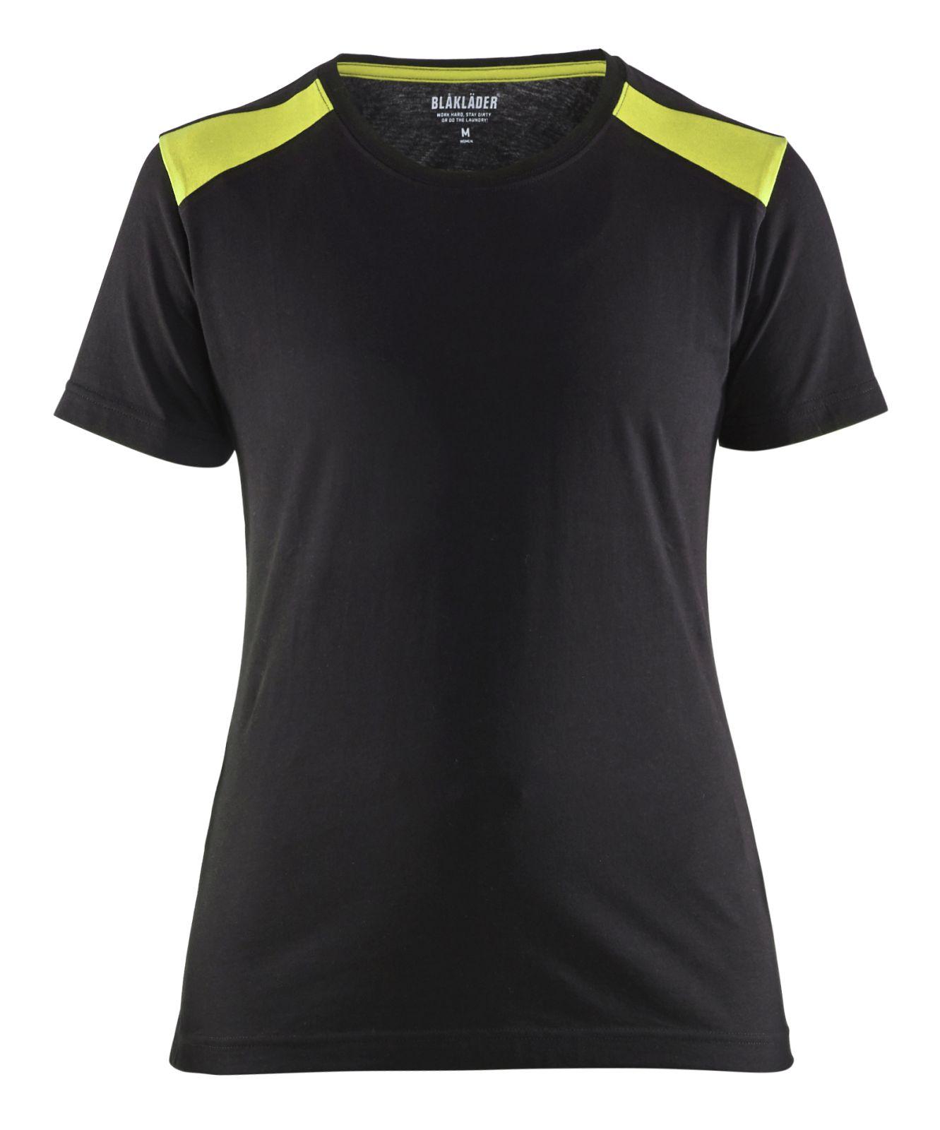Blaklader T-shirts 34791042 zwart-fluo geel(9933)