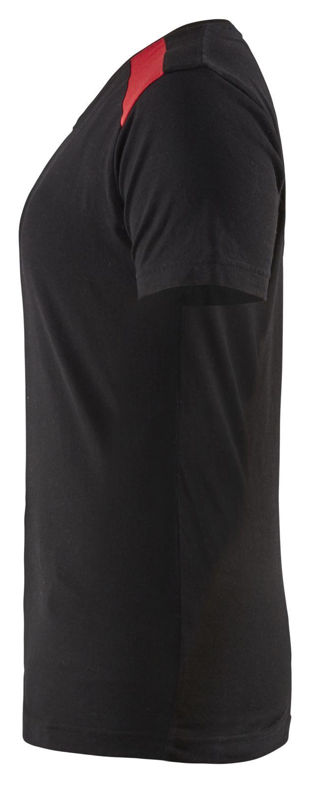 Blaklader T-shirts 34791042 zwart-rood(9956)