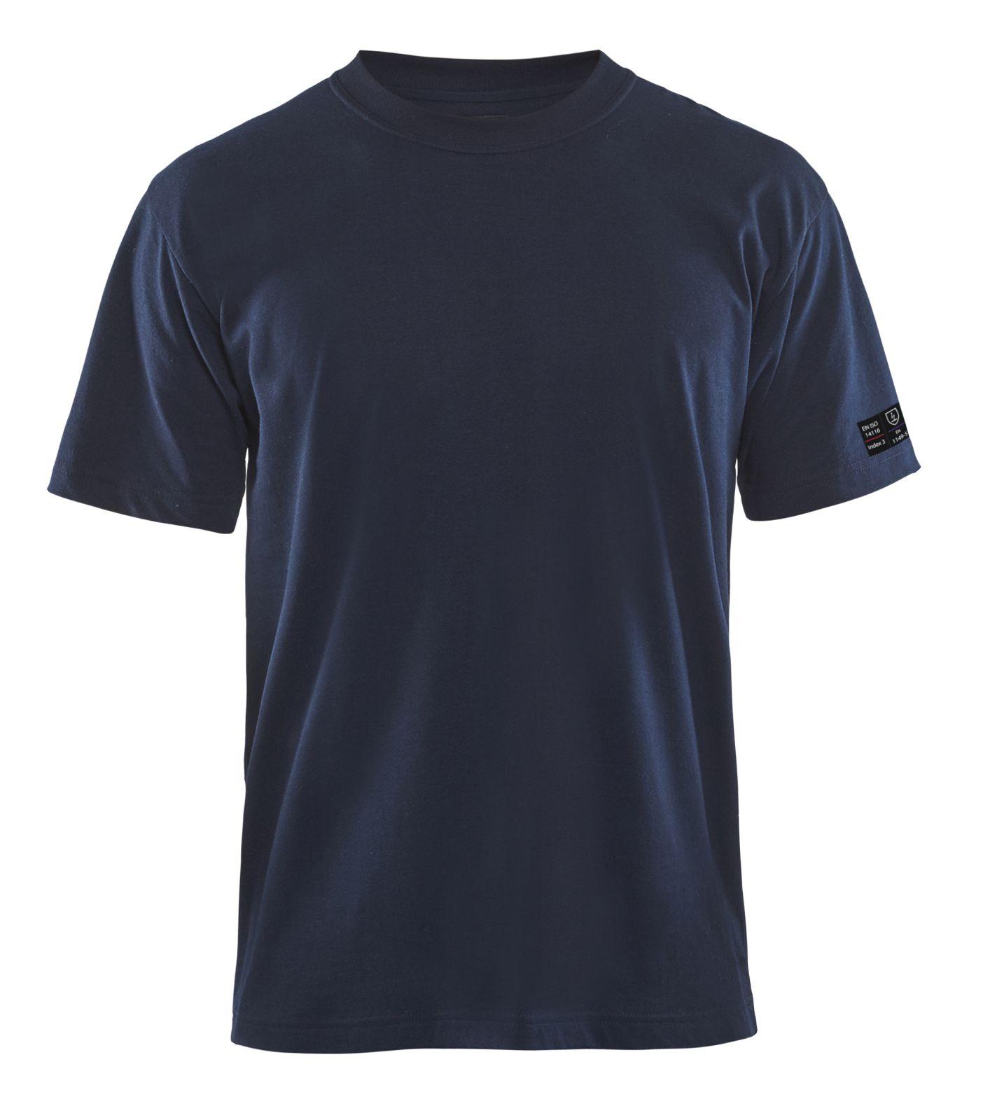 Blaklader T-shirts 34821717 Vlamvertragend marineblauw(8900)